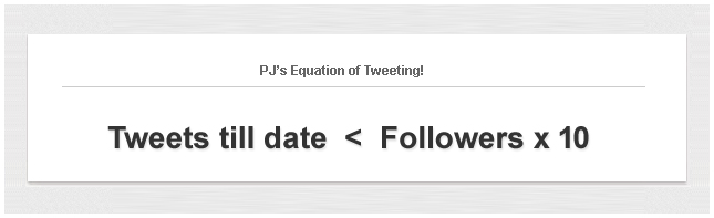 PJ's Equation of Tweeting